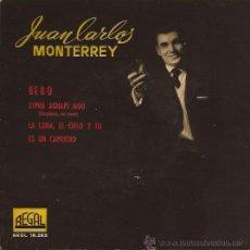 Discos de vinilo: EP-JUAN CARLOS MONTERREY BEBO-REGAL 19262-VINILO ROJO-SPAIN 1960. Lote 41673069