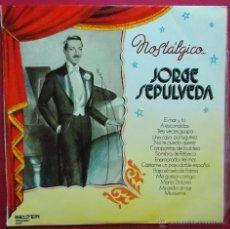 Discos de vinilo: JORGE SPULVEDA - NOSTALGICO - EL MAR Y TU - SOMBRA DE REBECA - Y 12 TEMAS MAS - BELTER 1974. Lote 41685976