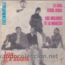 Discos de vinilo: LOS GRITOS LA VIDA SIGUE IGUAL/LOS MOLINOS DE LA MANCHA (BELTER 1968). Lote 41691972