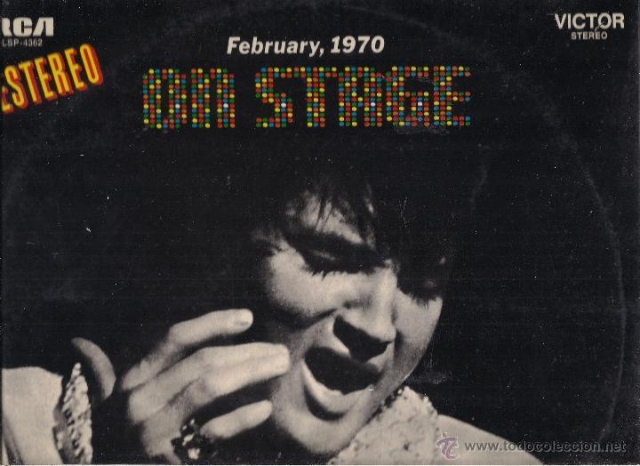ELVIS PRESLEY. ON STAGE FEBRUARY 1970. RCA VICTOR 1970 ESPAÑA (Música - Discos - LP Vinilo - Pop - Rock - Extranjero de los 70)
