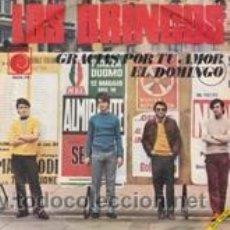 Discos de vinilo: LOS BRINCOS GRACIAS POR TU AMOR/EL DOMINGO (NOVOLA 1968). Lote 41692292