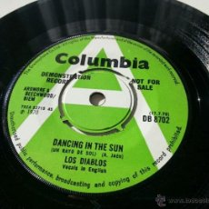 Discos de vinilo: LOS DIABLOS ~ DANCING IN THE SUN (UN RAYO DE SOL) UK DEMO PROMOCIONAL ~ ENGLAND 1970 - VINILOVINTAGE. Lote 41692305