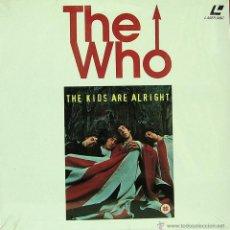 Discos de vinilo: THE WHO-THE KIDS ARE ALRIGHT LP LASER DISC 1979. Lote 41692711
