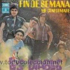 Discos de vinilo: LOS DIABLOS FÍN DE SEMANA/ME CONFORMARÉ (EMI 1971). Lote 41693440