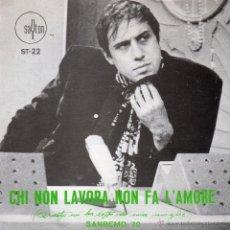 Disques de vinyle: ADRIANO CELENTANO, SG, CHI NON LAVORA NON FA L´AMORE + 1, AÑO 1970. Lote 41702920
