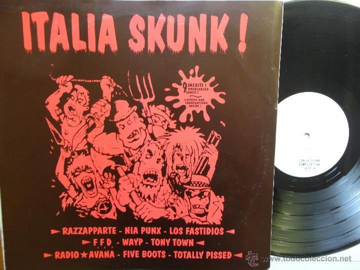ITALIA SKUNK!- F.F.D.-LOS FASTIDIOS-FIVE BOOTS-VARIOUS GROUP-LP PUNK/OI! 1998-LIM. EDIT. 500 COPIES. (Música - Discos - LP Vinilo - Punk - Hard Core)