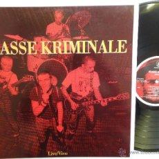 Discos de vinilo: KLASSE KRIMINALE- LIVE/VIVO- ITALIAN PUNK/ OI! 1996 + INSERT- NEAR MINT.. Lote 41704306