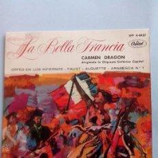 Discos de vinilo: ORQUESTA SINFONICA CAPITOL. LA BELLA FRANCIA. ORFEO EN LOS INFIERNOS Y 3 +. OFERTAS CON OTROS LOTES. Lote 41708152