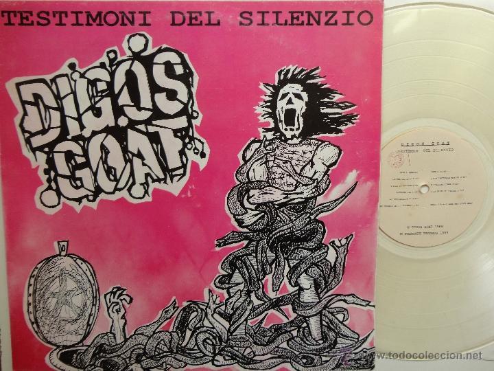 DIGOS GOAT- TESTIMONI DEL SILENZIO- ITALIAN HARDCORE/ PUNK- 1990 LP-CLEAR VINYL + INSERT- EX/ NM. (Música - Discos - LP Vinilo - Punk - Hard Core)