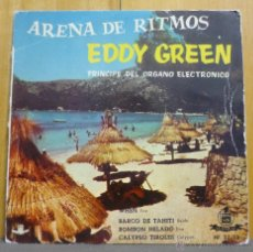 Discos de vinilo: EDDIE GREEN PRÍNCIPE DEL ÓRGANO ELECTRÓNICO - ARENA DE RITMOS - EP HISPAVOX - ESPAÑA 1960. Lote 41712379