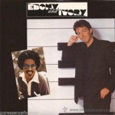 Discos de vinilo: BEATLES, PAUL MCCARTNEY STEVIE WONDER / EBONY AND IVORY !! RARA EDT USA PROMO !! IMPECABLE. Lote 41713885