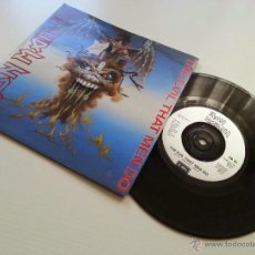 Discos de vinilo: IRON MAIDEN - THE EVIL THAT MEN DO -ORIGINAL UK ENGLAND SINGLE -PLATED TEXTURE LABEL - VINILOVINTAGE. Lote 41714042