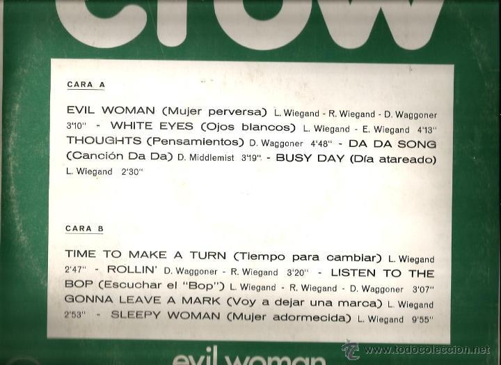 Discos de vinilo: LP CROW : EVIL WOMAN ( 1971 ) - Foto 2 - 41717909