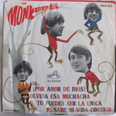Discos de vinilo: THE MONKEES - FORGET THAT GIRL + 3 - EP MEXICANO MUY RARO. Lote 41718597