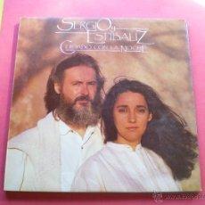 Discos de vinilo: SERGIO Y ESTIBALIZ - CUIDADO CON LA NOCHE - LP CBS PEPETO. Lote 41724510