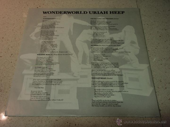 Discos de vinilo: Uriah Heep – Wonderworld Scandinavia 1974 Bronce - Foto 3 - 41731096