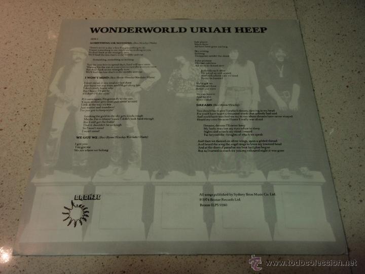 Discos de vinilo: Uriah Heep – Wonderworld Scandinavia 1974 Bronce - Foto 4 - 41731096