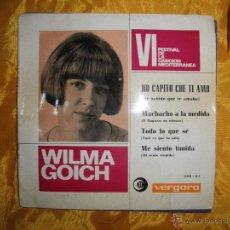 Discos de vinilo: WILMA GOICH. HO CAPITO CHE TI AMO + 3. VERGARA 1964. Lote 41734519