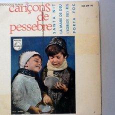 Discos de vinilo: ESCOLANÍA DE NTRA. SRA. DE POMPEIA - CANÇONS DE PESSEBRE - EP PHILIPS 1965. Lote 107684147