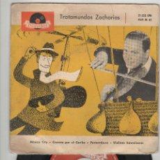 Discos de vinilo: TROTAMUNDOS HELMUT ZACHARIAS Y SUS VIOLINES MÁGICOS. . 45 R.P.M. POLYDOR. Lote 41801514