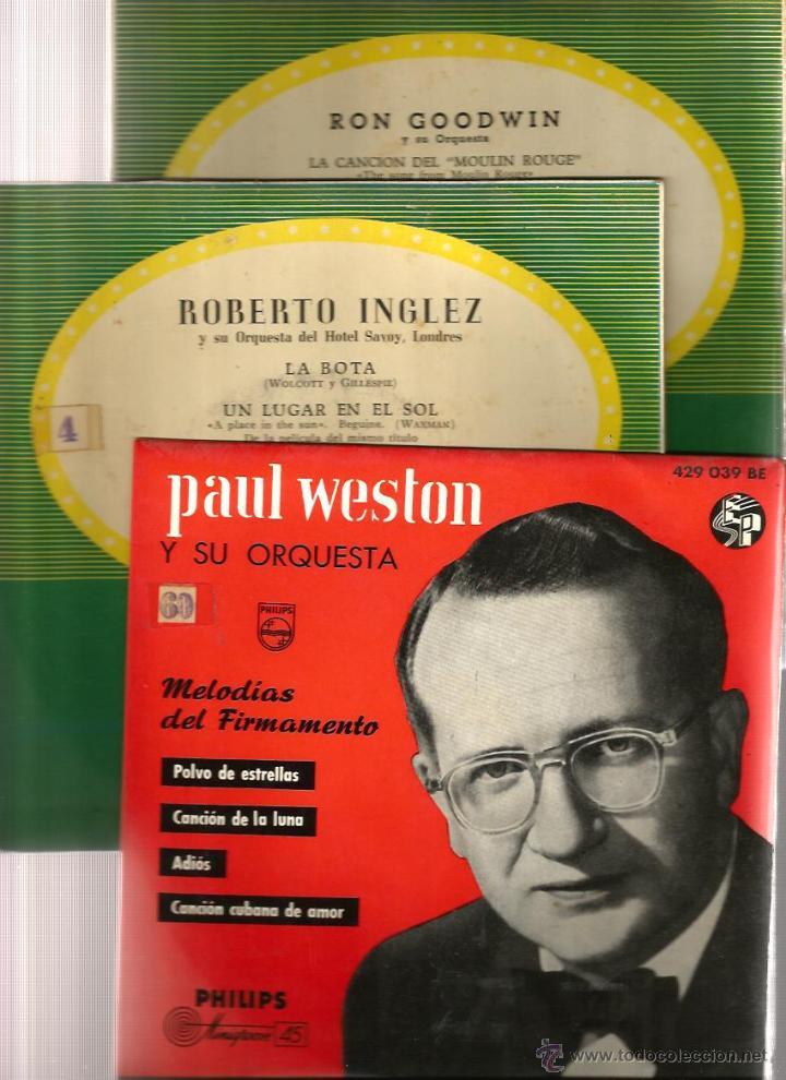 Discos de vinilo: BILLY MAY, EMIL COLEMAN, PAUL WESTON, BOSTON POPS, AL STEFANO, R. INGLEZ, BERNARD HILDA, POURCEL - Foto 4 - 41812323