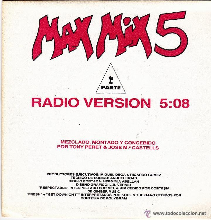 MAX MIX 5 - RADIO VERSION SINGLE VINILO 1987 (Música - Discos - Singles Vinilo - Pop - Rock Extranjero de los 90 a la actualidad)