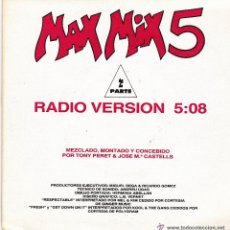 Discos de vinilo: MAX MIX 5 - RADIO VERSION SINGLE VINILO 1987. Lote 41839565