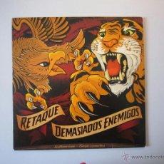 Discos de vinilo: LP - SPLIT - RETAQUE / DEMASIADOS ENEMIGOS - STREET PUNK - IMPORTACIÓN ECUADOR. Lote 46615569