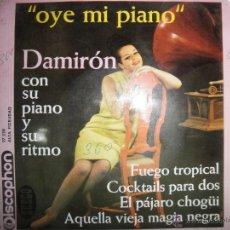 Discos de vinilo: DAMIRON CON SU PIANO Y SU RITMO. OYE MI PIANO. EP. SEECO 1963. Lote 41861271