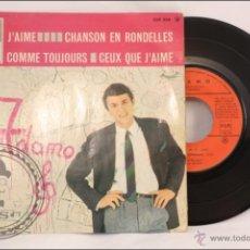 Discos de vinilo: SINGLE / EP - ADAMO - J'AIME - EDITA LA VOIX DE SON MAITRE / LA VOZ DE SU AMO - EMI - 1965 - FRANCIA. Lote 41873964