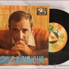 Discos de vinilo: SINGLE / EP - CHARLES AZNAVOUR - VENECIA SIN TI - EDITA BARCLAY - 1965 - ESPAÑA. Lote 41874004