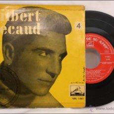 Discos de vinilo: SINGLE / EP - GILBERT BECAUD - MÉ-QUÉ, MÉ-QUÉ - EDITA LA VOZ DE SU AMO - 1958 - ESPAÑA. Lote 41874149