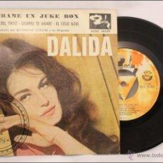 Discos de vinilo: SINGLE/EP - 45 RPM - DALIDA - LECCIÓN DEL TWIST - EDITA BARCLAY - 1961 - ESPAÑA . Lote 41875069