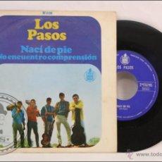 Dischi in vinile: SINGLE VINILO - 45 RPM - LOS PASOS - NACÍ DE PIE - EDITA HISPAVOX - 1966 - ESPAÑA. Lote 41879992