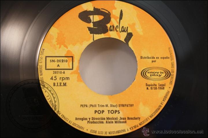 Discos de vinilo: Single Vinilo - 45 RPM - Los Pop Tops - Pepa - Barclay/Sono Play - 1968 - España - Foto 2 - 41881265
