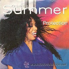 Discos de vinilo: DONNA SUMMER PROTECTION - SINGLE 45 RPM. Lote 41881532