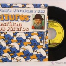 Discos de vinilo: SINGLE VINILO - EL PADRE ABRAHAM Y LOS PITUFOS - DESFILAN LOS PITUFOS - MO ESTEREO - 1979 - ESPAÑA. Lote 41883932