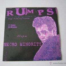 Discos de vinilo: LP - RUMPS - NECRO MINORITY - 2000 - PUNK ROCK. Lote 90947370