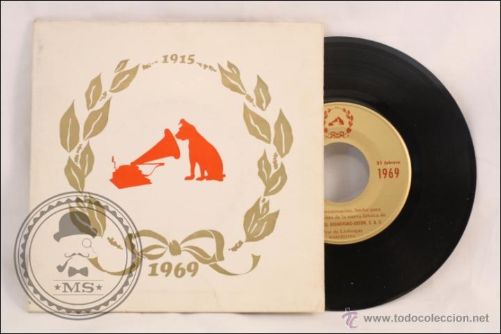 SINGLE/EP - RAREZA - DISCO INAUGURACIÓN FÁBRICA DE EMI EN EL PRAT LLOBREGAT. 1915-1969 - 1969 (Música - Discos de Vinilo - EPs - Otros estilos)