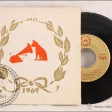Discos de vinilo: SINGLE/EP - RAREZA - DISCO INAUGURACIÓN FÁBRICA DE EMI EN EL PRAT LLOBREGAT. 1915-1969 - 1969. Lote 41892748