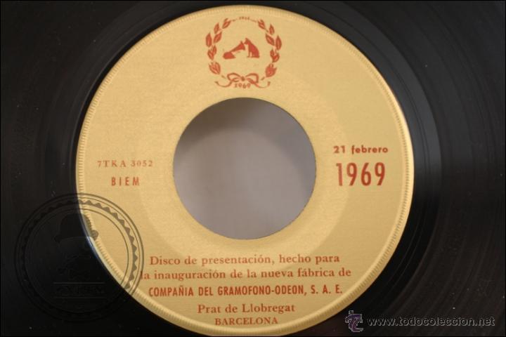 Discos de vinilo: Single/EP - Rareza - Disco Inauguración Fábrica de EMI en El Prat Llobregat. 1915-1969 - 1969 - Foto 3 - 41892748