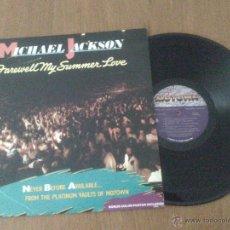 Discos de vinilo: MICHAEL JACKSON - FAREWELL MY SUMMER LOVE - LP. Lote 41894999