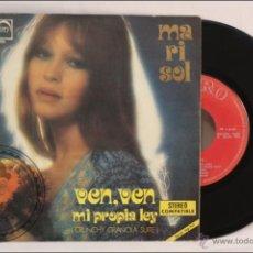 Discos de vinilo: SINGLE VINILO - 45 RPM - MARISOL/PEPA FLORES - VEN, VEN - EDITA ZAFIRO - 1973 - ESPAÑA. Lote 41895469