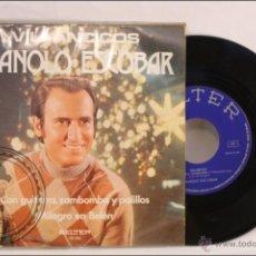 Discos de vinilo: SINGLE VINILO - 45 RPM - MANOLO ESCOBAR - VILLANCICOS.CON GUITARRA.. - EDITA BELTER - 1973 - ESPAÑA. Lote 41897318