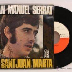 Discos de vinilo: SINGLE VINILO - 45 RPM - JOAN MANUEL SERRAT - PER SANT JOAN - EDITA EDIGSA - 1968 - ESPAÑA. Lote 41898312