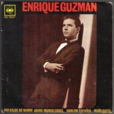 Discos de vinilo: ENRIQUE GUZMAN. 100KILOS DE BARRO + TRES. CBS 1962. Lote 46164823