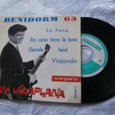 Discos de vinilo: TONY VILAPLANA 7´EP BENIDORM 63 /// LA HORA + 3 (1963) VINILO NUEVO-COLECCION. Lote 41909406
