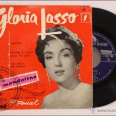 Discos de vinilo: SINGLE / EP VINILO - GLORIA LASSO - DOLORES - LA VOIX DE SON MAITRE/LA VOZ DE SU AMO - FRANCIA. Lote 41927257