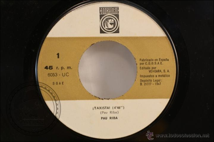 Discos de vinilo: Single / EP Vinilo - 45 RPM - Pau Riba - Taxista - Edita Concentric - 1967 - España - Foto 2 - 41933291