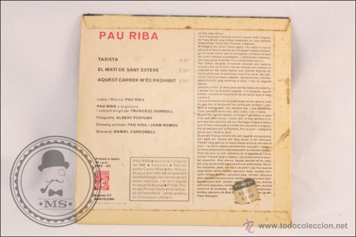 Discos de vinilo: Single / EP Vinilo - 45 RPM - Pau Riba - Taxista - Edita Concentric - 1967 - España - Foto 3 - 41933291
